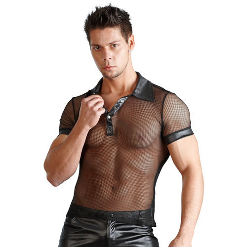 Men's shirt Wetlook XXL Men's Lingerie Shirts - Svenjoyment Underwear