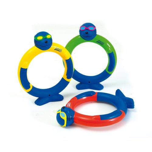 Zoggs Children's Dive Rings Fun Swimming Sinking Water Toy/Pool Game - Pack of 3, 3+ Years