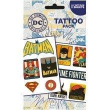 Dc Comics Retro Tattoo Pack