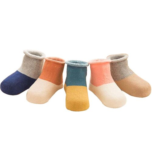 5 Pairs Baby Winter Socks Thick Terry Socks Warm Cotton Socks [C-2]