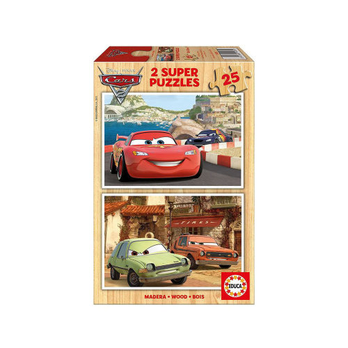 Disney Cars Lightning McQueen and Friends Two 25pcs Wooden Jigsaw...