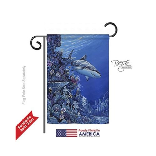 Beach & Nautical Shark Reef 2-Sided Impression Garden Flag - 13 x 18.5 in.
