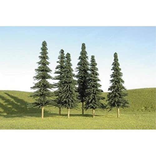 """Bachmann Industries Scene Scapes Trees 2""""- 4"""" Spruce Trees N Scale Train (36 Piece)"""
