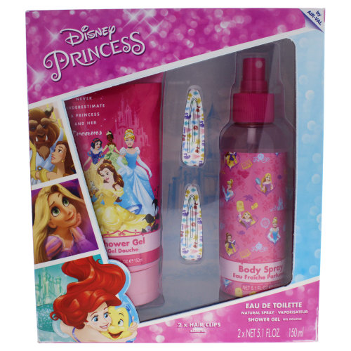 Disney Disney Princess - 3 Pc Gift Set 5.1oz Body Spray, 5.1oz Shower Gel, 2 Hair Clips