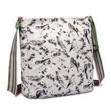 Buy 1 Get 1 at 20% Off Miss Lulu Women Cross Body Messenger Bag Bird Flower Canvas Shoulder Satchel