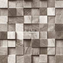 wallpaper pieces of wood brown - 138530
