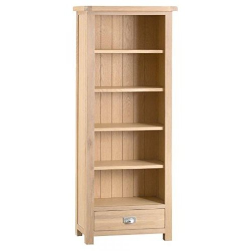Langham Lime Washed Oak Furniture Medium Bookcase