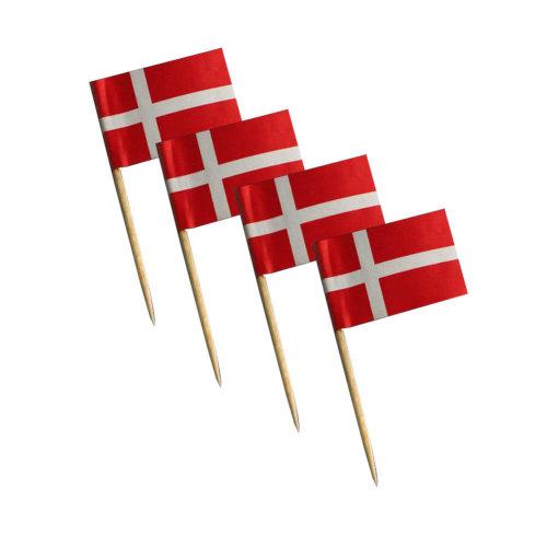 National Flag Cocktail Picks 200 Packs Appetizer Toothpicks - Denmark