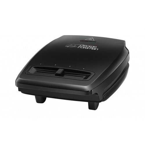 George Foreman 23411 Compact 3 Portion Grill with Variable Temperature - Black