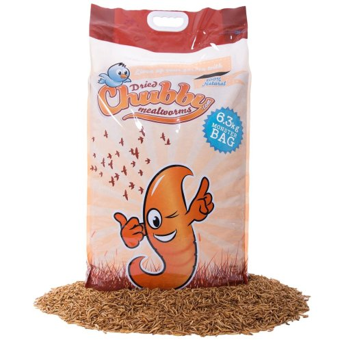 Chubby Mealworms Dried Mealworms, 6.3 kg
