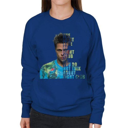 Fight Club Tyler Durden Half Head Women's Sweatshirt
