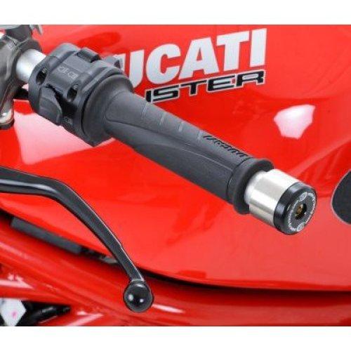 R&G Bar End Sliders for Renthal / LSL bars & Ducati 848 08- / Monster 1200(S) -16 / KTM RC125/200 (must cut grips)