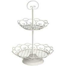 Ivory Cake Stand with Scrolls