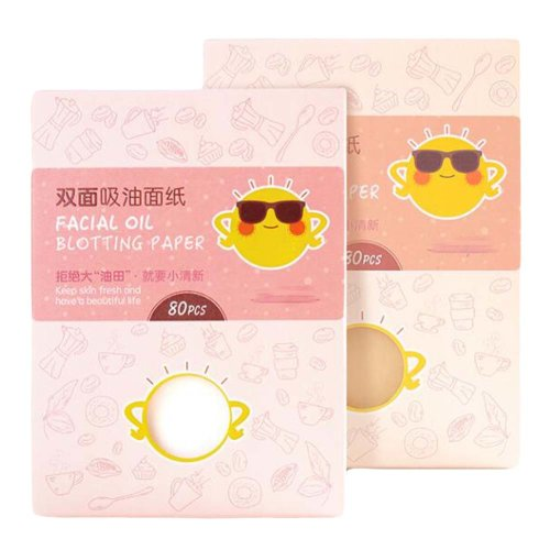 Summer Portable Oil Blotting Sheets, Pack of 4(80 Sheets Each)