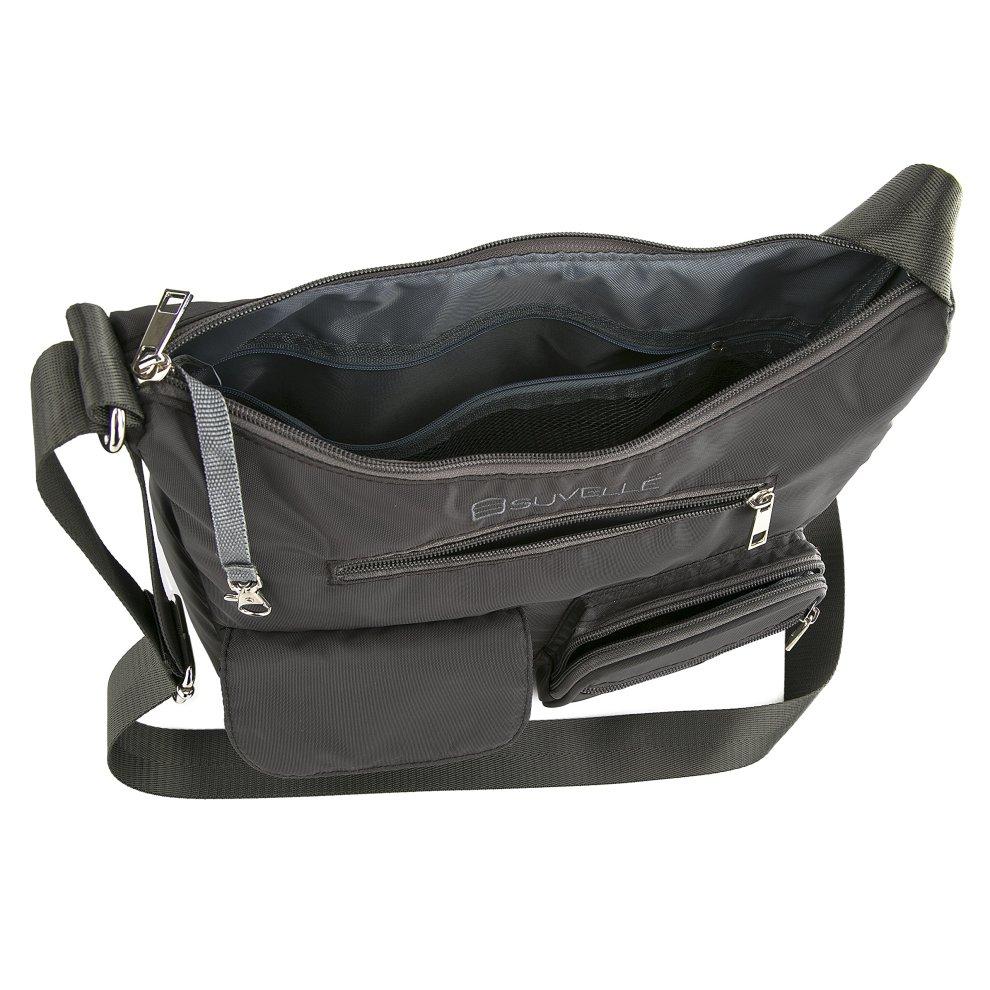 2ca8f7b4b ... Suvelle Lightweight Carryall Travel RFID Blocking Protection Crossbody  Bag Multi Pocket Shoulder Handbag BA10 - 2 ...