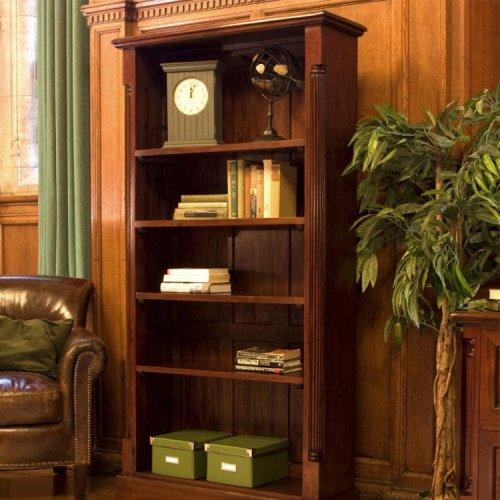 La Roque Mahogany Furniture Tall Open Bookcase