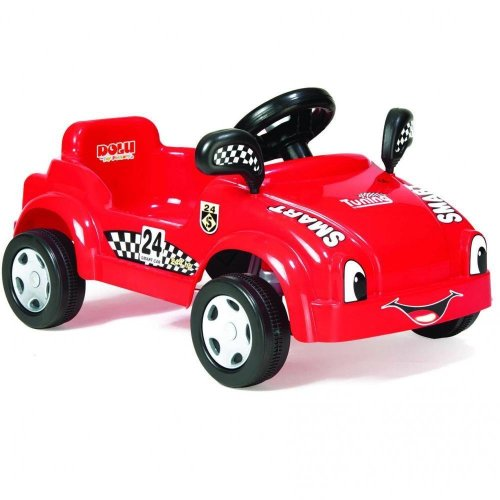 Dolu Toddler Kids Smart Car Pedal Operated Ride On Car Red Outdoor Garden