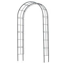 Nature Garden Arch Metal Black 6040802