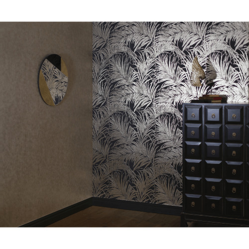 Arthouse Palm Pattern Metallic Shimmer Foil Leaf Effect Luxury Wallpaper 903202