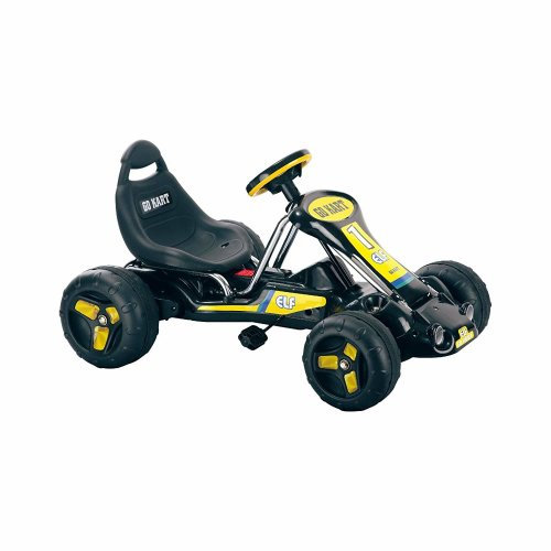 Ride On Toy Go Kart, Pedal Powered, No Battery Ride On by Lil' Rider – (Black)