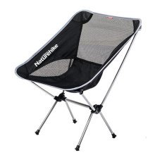 Portable Folding Chair Stool Camping Chairs Moon Fishing Travel Paint Outdoor, Silver Gray