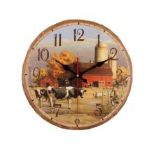 European Rural Pastoral Retro Wall Clock Living Room Personalized Decoration Non-ticking #11