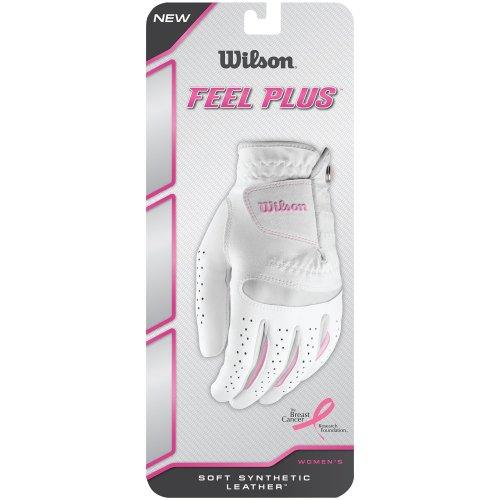Wilson Women's Feel Plus Golf Glove, Left Hand, Large