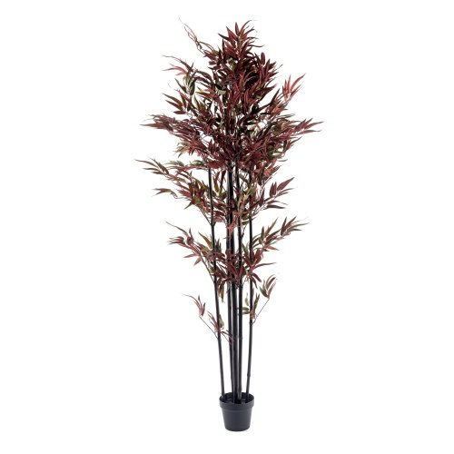 Bamboo Tree Red & Green 180cm Realistic Artificial Plant Indoor Outdoor