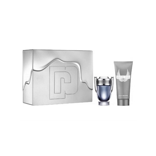 Paco Rabanne Invictus Eau de Toilette Men's Aftershave Gift Set Spray (50ml) with All Over Shampoo