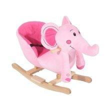Homcom Kids Rocking Elephant  Seat with Sound  (pink)
