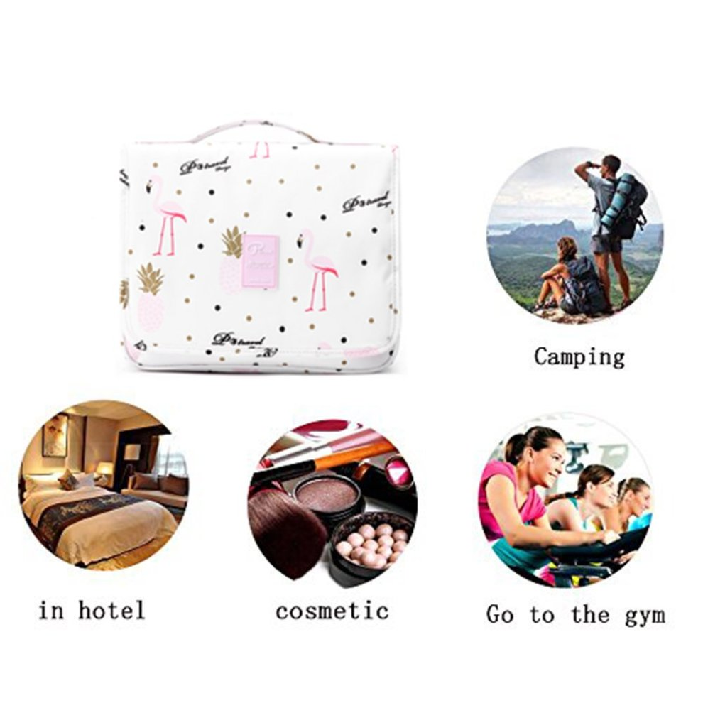 9d1e9af0c71d ... Travel Toiletry Bag with Hanging Hook for Men and Women Cosmetic Bag  Oganizer with Handle Make. >