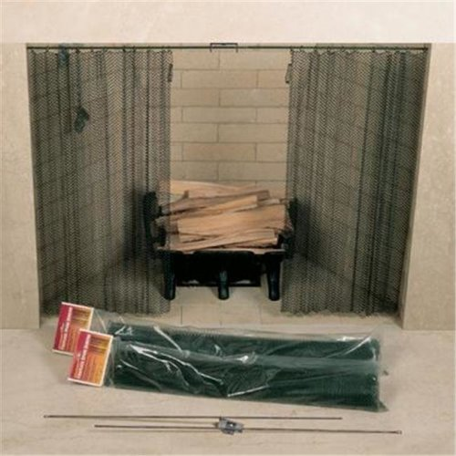 UniFlame C-6820 48in. X 20in. Fireplace Spark Screen - Rod Kit Not Included