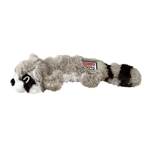 KONG Scrunch Knots Raccoon Dog Toy, Medium/Large