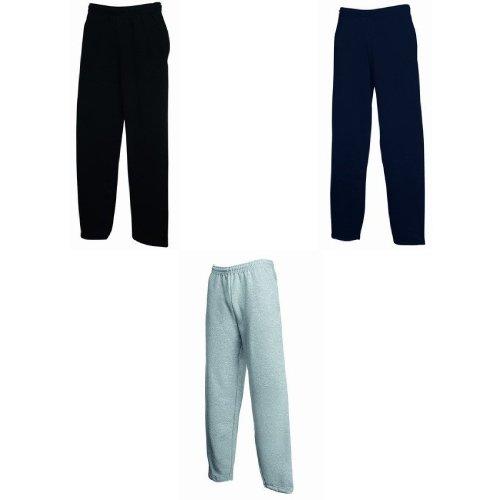 Fruit Of The Loom Mens Open Hem Jog Pants / Jogging Bottoms