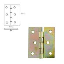 30 Pcs Folding Closet Cabinet Door Butt Hinge Brass Plated 40x40mm