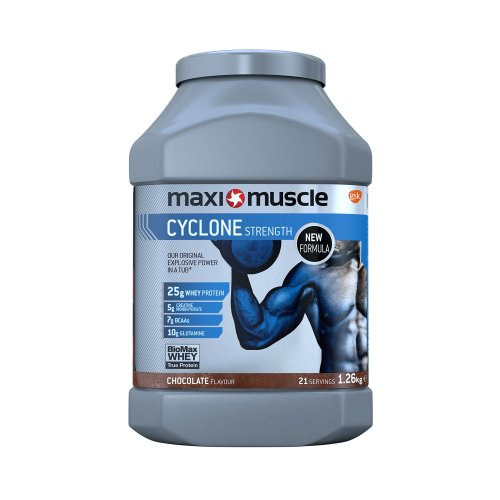 Maximuscle Cyclone Whey Protein Powder with Creatine, 1.26 kg, Chocolate
