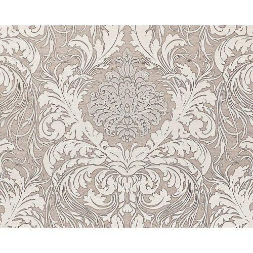 EDEM 9017-34 Baroque wallcovering wall glittering grey silver 10.65 sqm