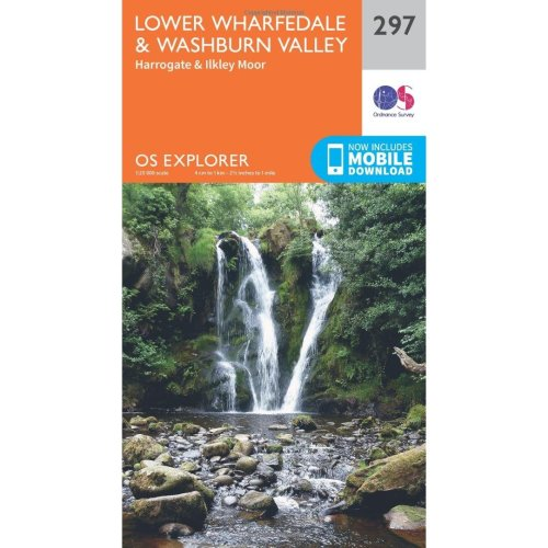 OS Explorer Map (297) Lower Wharfedale and Washburn Valley (OS Explorer Paper Map) (OS Explorer Active Map)