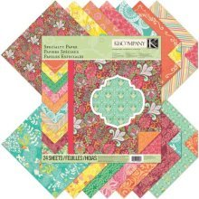 K & Co Paper Pad: Handmade 12x12 Specialty -  12 k company handmade collection speciality paper 28 sheets x inch