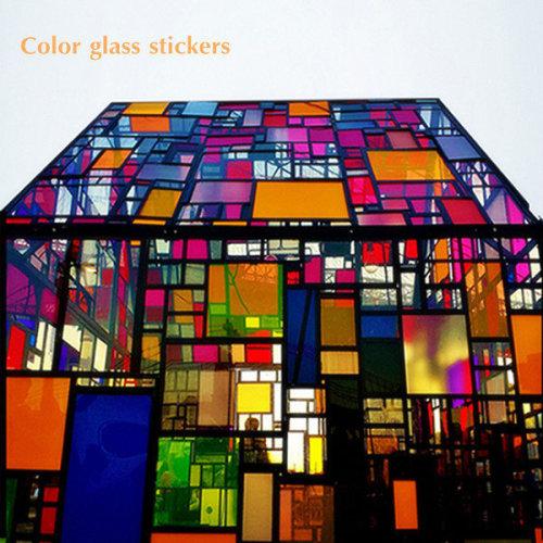 152x66cm Colorful Transparent Window Glass Film