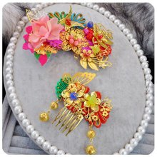 Set Of 2 Amazing Traditional Chinese Wedding Exquisite Hair Combs Accessory