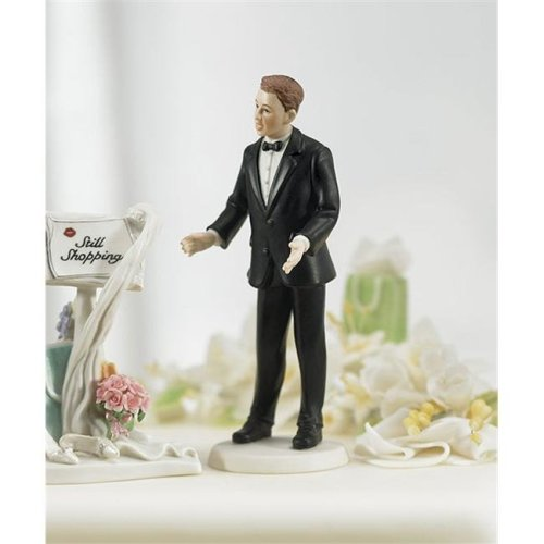 Weddingstar 7092  Surprised Groom  Mix & Match Cake Topper- Non-Caucasian- Groom Only