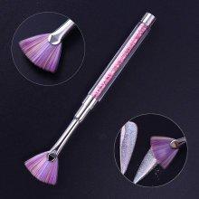 1 Pc Gradient Fan Nail Brush
