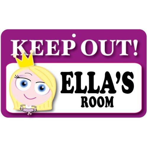 Keep Out Door Sign - Ella's Room