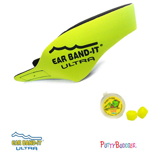 Ear Band-It ULTRA Yellow Head Band for Swimming