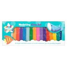 Large 16 Colour Fun Modelling Clay Set Kit Size: 36cm Long - BNIB