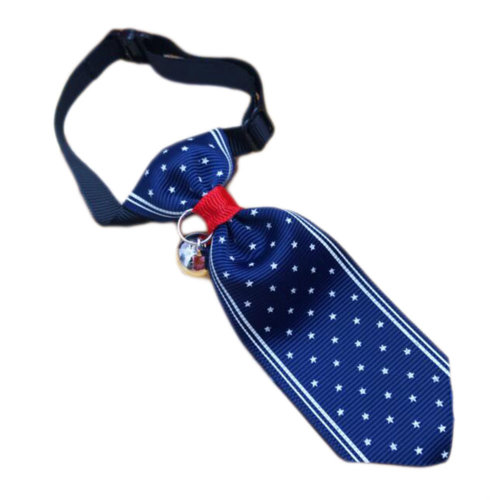 England Style Pet Collar Tie Adjustable Bowknot Cat Dog Collars with Bell-B05