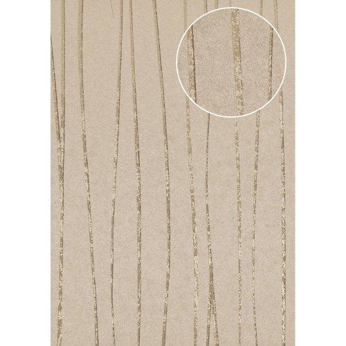 Atlas COL-567-9 Stripes wallpaper shimmering stone-grey light-grey 5.33 sqm