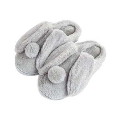 Women Plush Slippers Winter Cartoon Indoor Slippers Household Slippers GREY