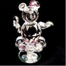 Cut Crystal Teddy Bear Ballerina Ornament